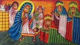 Artista Etiope. Adorazione dei Magi. Presepio Copto, 2019