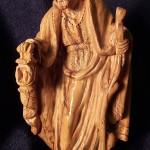 Statuina di San Giuseppe. Presepio in legno di ulivo dalla Terra Santa