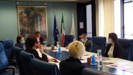 Emma Petitti con la delegazione della Bielorussia